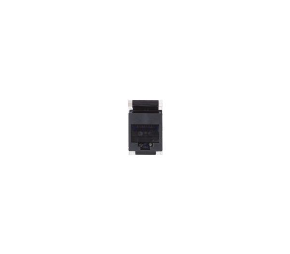 Wkład gniazda komputerowego RJ45 kat.5e, nieekranowany (UTP) czarny 75540-39