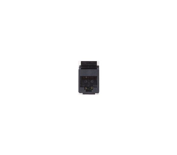 Wkład gniazda komputerowego RJ45 kat.6, nieekranowany (UTP) czarny 75544-39