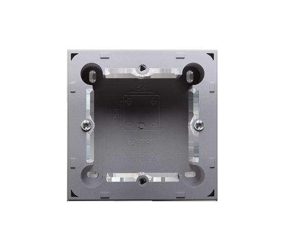 Puszka natynkowa 1-krotna inox, metalizowany  do serii BASIC i CLASSIC MPN1/21