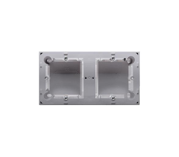 Puszka natynkowa 2-krotna inox, metalizowany  do serii BASIC i CLASSIC MPN2/21