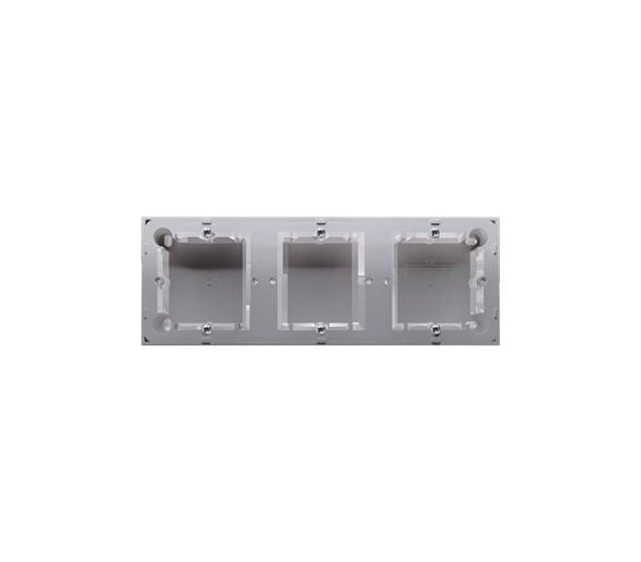 Puszka natynkowa 3-krotna inox, metalizowany do serii BASIC i CLASSIC  MPN3/21