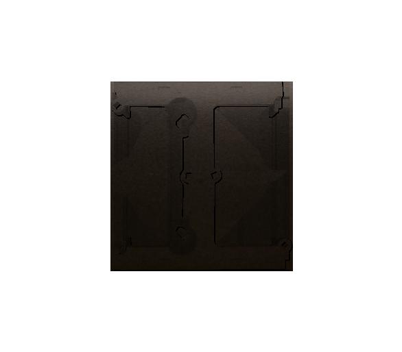 Puszka natynkowa – element rozszerzający puszkę pojedynczą składaną do ramek wielokrotnych brąz mat, metalizowany