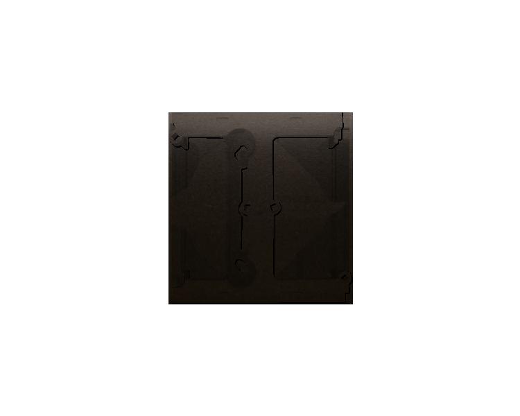 Puszka natynkowa – element rozszerzający puszkę pojedynczą składaną do ramek wielokrotnych brąz mat, metalizowany DSH/46