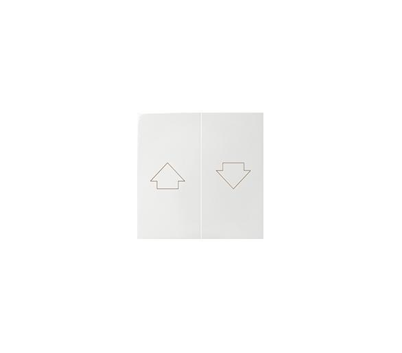 Klawisz podwójny do łączników i przycisków biały 82028-30