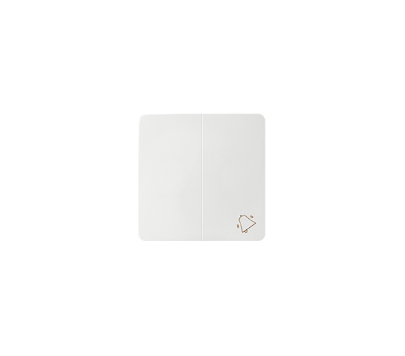 Klawisz podwójny do łączników i przycisków biały 82027-30
