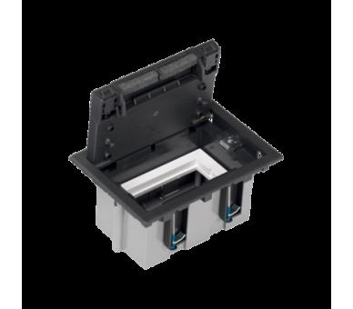 Puszka podłogowa SF prostokątna 2×K45 1×S500 93mm÷128mm szary grafit 52050101-038