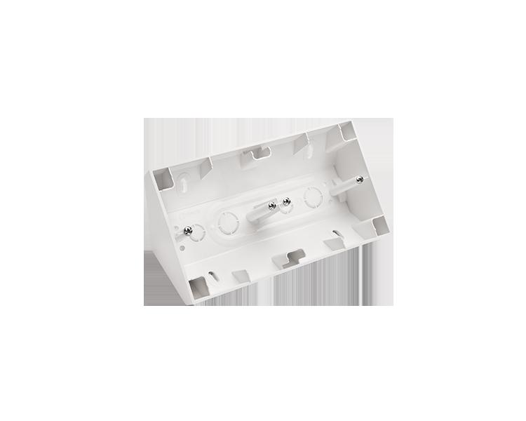 Puszka natynkowa narożna 2-krotna biały DPNR2/11