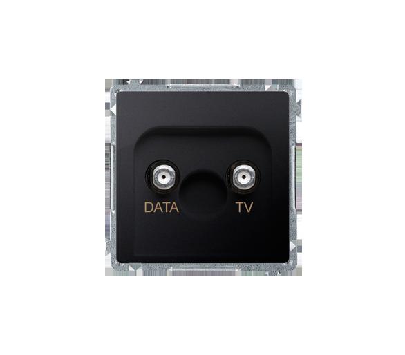 Gniazdo antenowe TV-DATA tłum.:5dB grafit mat, metalizowany BMAD1.01/28