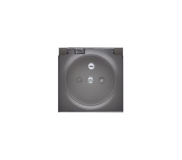 Pokrywa do gniazda wtyczkowego z uziemieniem - do wersji IP44- klapka w kolorze transparentnym grafit 82068KD-38