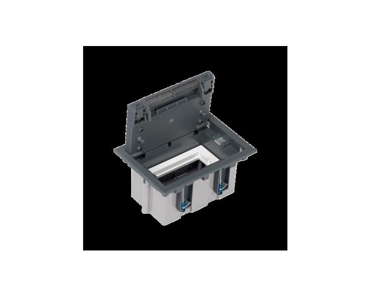 Puszka podłogowa SF prostokątna 2×K45 1×S500 93mm÷128mm szary 52050101-035