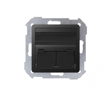 Pokrywa gniazd teleinformatycznych na Keystone skośna pojedyncza lub podwójna grafit 82579-38