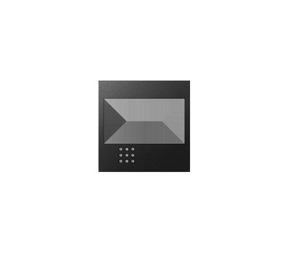Pokrywa do ściemniacza na podczerwień, łącznika przyciskowego żaluzjowego, łącznika żaluzjowego elektronicznego grafit 82080-38