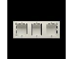 Puszka natynkowa 3-krotna beżowy  do serii BASIC i CLASSIC MPN3/12