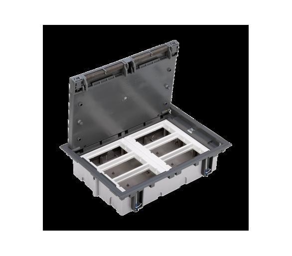 Puszka podłogowa SF prostokątna 12×K45 6×S500 70mm÷105mm szary 52050006-035