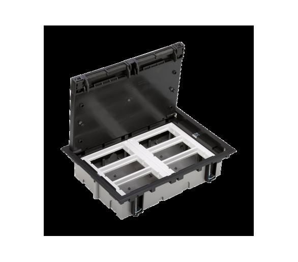 Puszka podłogowa SF prostokątna 12×K45 6×S500 70mm÷105mm szary grafit 52050006-038