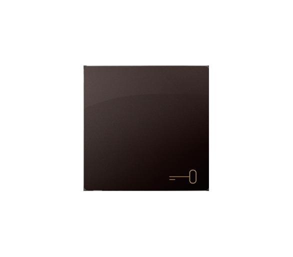 Klawisz pojedynczy do łączników i przycisków czekoladowy mat, metalizowany BMKWK1/47