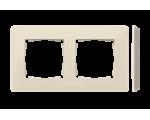 Ramka 2-krotna, Detail ORIGINAL-mono, KREM / podstawa Krem 8200620-031