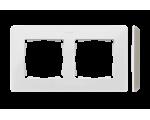 Ramka 2-krotna, Detail ORIGINAL-mono, BIAŁA / podstawa Szary ciepły 8200620-029