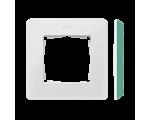 Ramka 1- krotna Detail ORIGINAL-color, BIAŁA / podstawa Akwamaryn 8200610-202