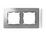 Ramka 2-krotna, Detail ORIGINAL-air, ALUMINIUM / podstawa Biała 8200620-093