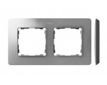 Ramka 2-krotna, Detail ORIGINAL-air, ALUMINIUM / podstawa Czarna 8200620-293