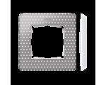 Ramka 1- krotna Detail ORIGINAL-imagine, SZARY CIEPŁY kropki / podstawa Biała 8200610-211