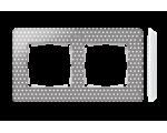 Ramka 2-krotna, Detail ORIGINAL-imagine, SZARY CIEPŁY kropki / podstawa Biała 8200620-211