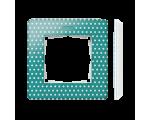 Ramka 1- krotna Detail ORIGINAL-imagine, AKWAMARYN kropki / podstawa Biała 8200610-212
