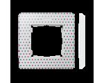 Ramka 1- krotna Detail ORIGINAL-imagine, BIAŁA kropki / podstawa Biała 8200610-210