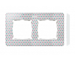 Ramka 2-krotna, Detail ORIGINAL-imagine, BIAŁA kropki / podstawa Biała 8200620-210