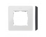 Ramka 1- krotna Detail ORIGINAL-color, BIAŁA / podstawa Czarna 8200610-200