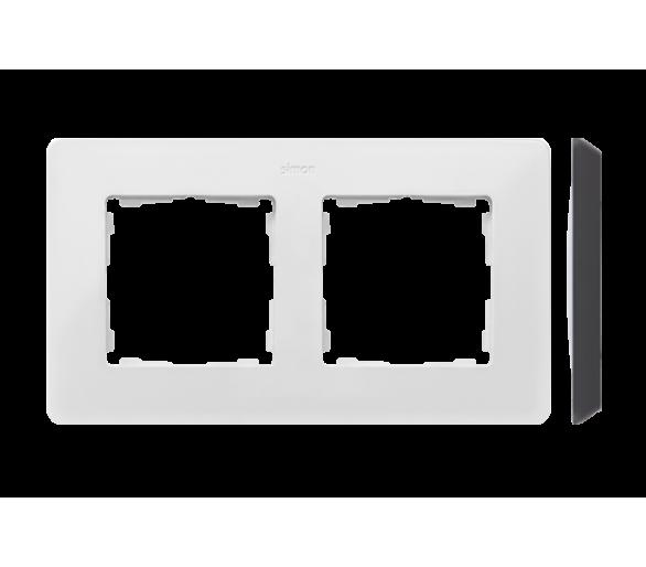 Ramka 2-krotna, Detail ORIGINAL-color, BIAŁA / podstawa Czarna 8200620-200