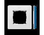 Ramka 1- krotna Detail ORIGINAL-color, BIAŁA / podstawa Indygo 8200610-201