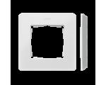 Ramka 1- krotna Detail ORIGINAL-premium, BIAŁA / podstawa Aluminiowa 8200610-230