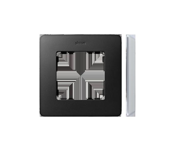 Ramka 1- krotna Detail ORIGINAL-premium, GRAFIT / podstawa Aluminiowa 8200610-238