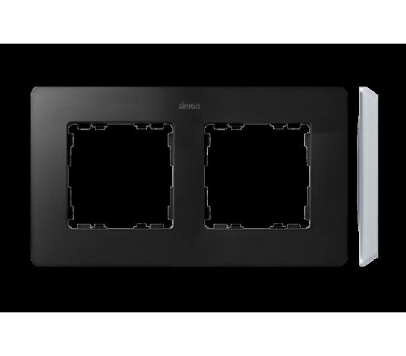 Ramka 2-krotna, Detail ORIGINAL-premium, GRAFIT / podstawa Aluminiowa 8200620-238