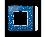Ramka 1- krotna Detail ORIGINAL-imagine, INDYGO gwiazdki / podstawa Biała 8200610-221