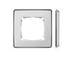 Ramka 1- krotna biały chrom 8201610-244
