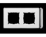Ramka 2- krotna biały chrom 8201620-244