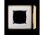Ramka 1- krotna biały złoty 8201610-245