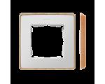 Ramka 1- krotna biały drewno 8201610-270