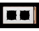 Ramka 2- krotna biały drewno 8201620-270