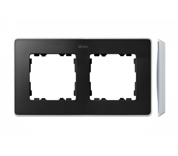Ramka 2- krotna aluminium grafit 8201620-240
