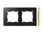 Ramka 2- krotna grafit złoty 8201620-242