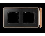 Ramka 2- krotna grafit drewno 8201620-271