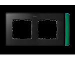 Ramka 2- krotna grafit zielony 8201620-250