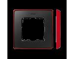 Ramka 1- krotna czerwony grafit 8201610-252