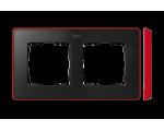 Ramka 2- krotna czerwony grafit 8201620-252
