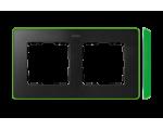 Ramka 2- krotna grafit jasny zielony 8201620-260