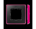 Ramka 1- krotna grafit jasny różowy 8201610-261